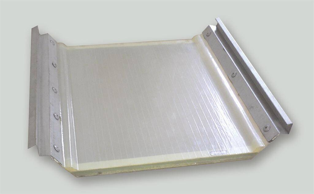 Double-layers FRP Skylight Panel of anti-condensation Type with metal edges