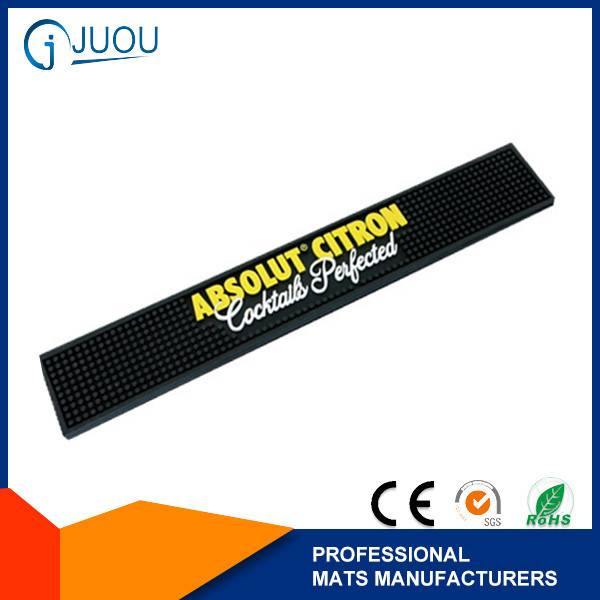 Eco-friendly pvc rubber custom bar mat with ABSOLUT logo
