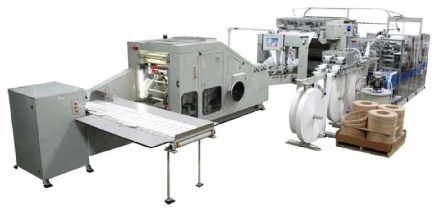 Auto machine make paper bread bag with square bottom for bakery packaging