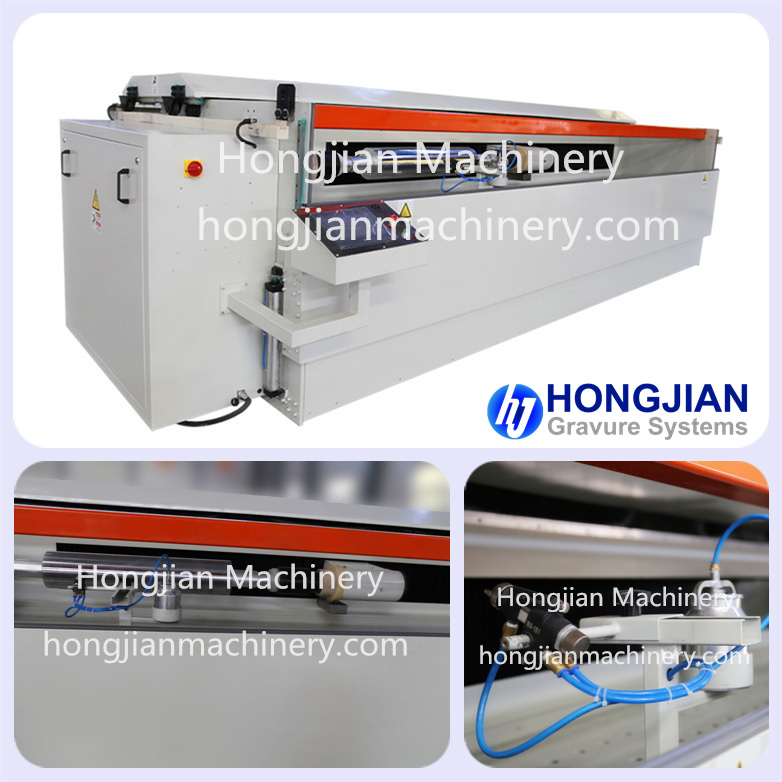 Spray Coating Machine for Big Heavy Cylinders Gravure Cylinders Embossing Roll Laser Etching