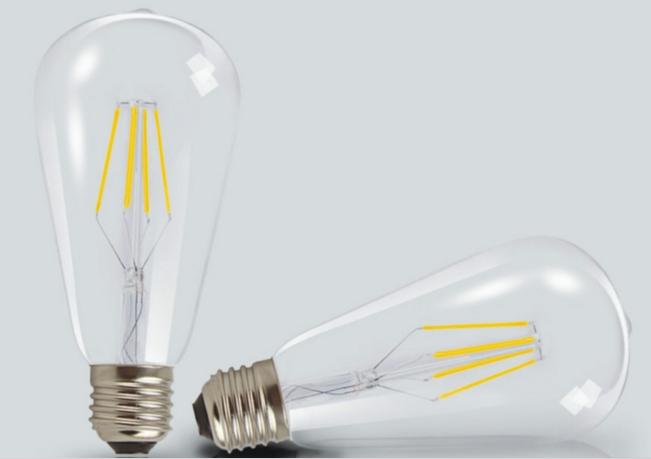 ST64 LED filament bulb