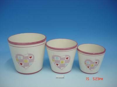 Ceramic Flowerpot Set/3