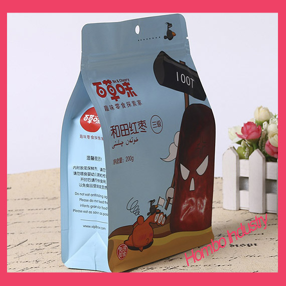 Customized Eight Edge-Sealing Bag for Nut Plastic Food Bags
