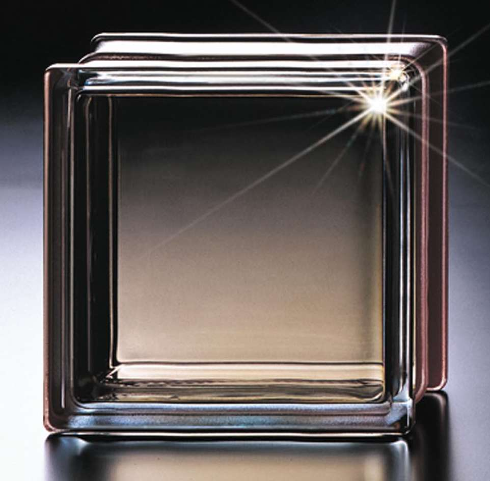 Decorative Clear Frosted Solid Transparent Glass Block for Glass Wall