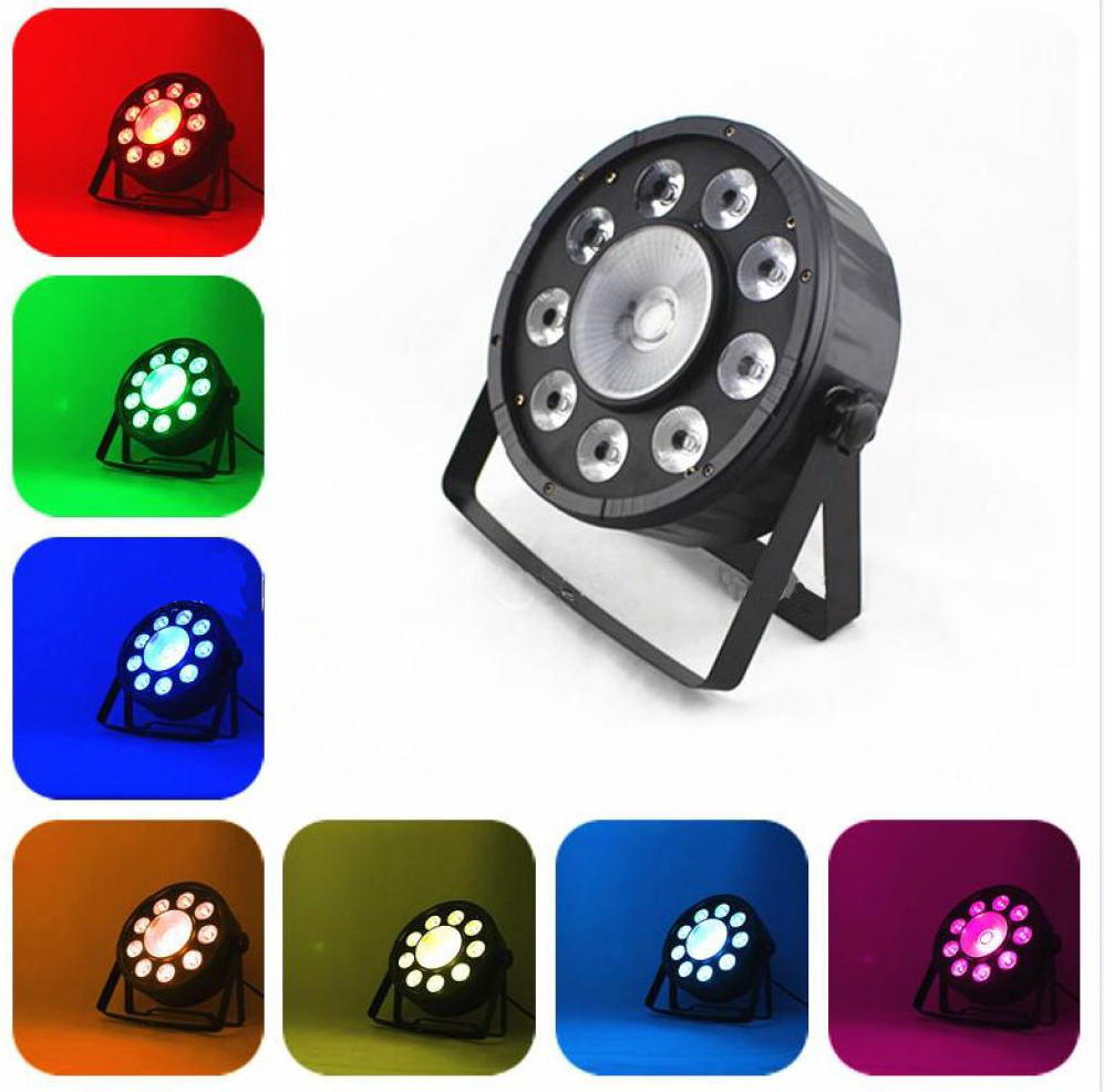 9led+1 hign power led flat par light