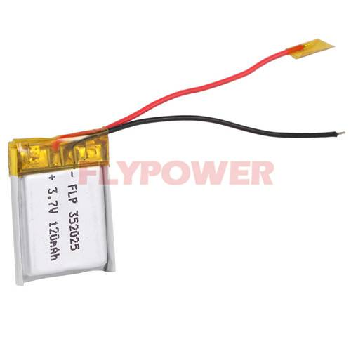 Lithium Battery 3.7V 120mAh Rechageable Battery Pack