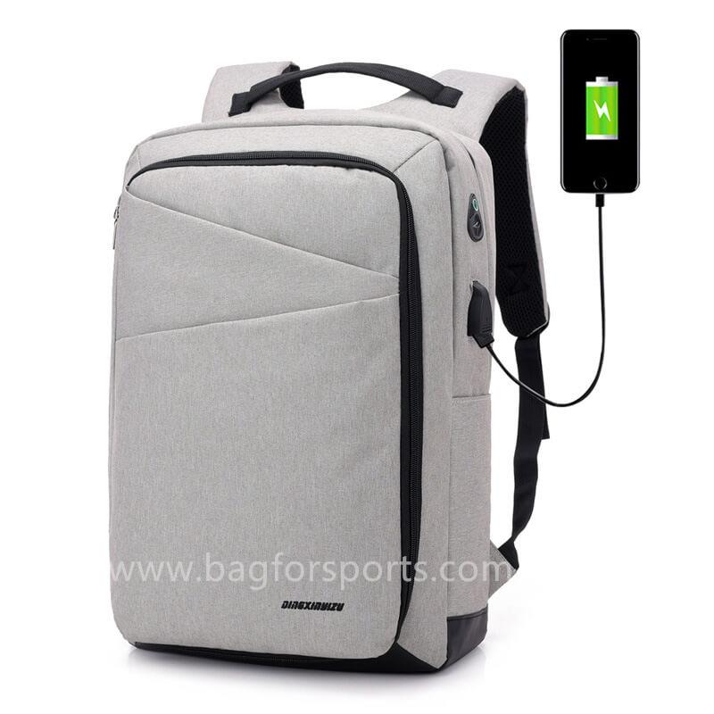 Lightweight Laptop Backpack USB Port Water Resistant 15.6 Inch Business Slim Back Pack Travel Bag