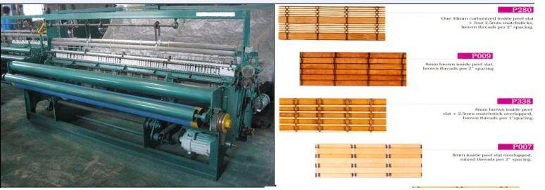 bamboo curtain blind making weaving machine manufacturing line plant