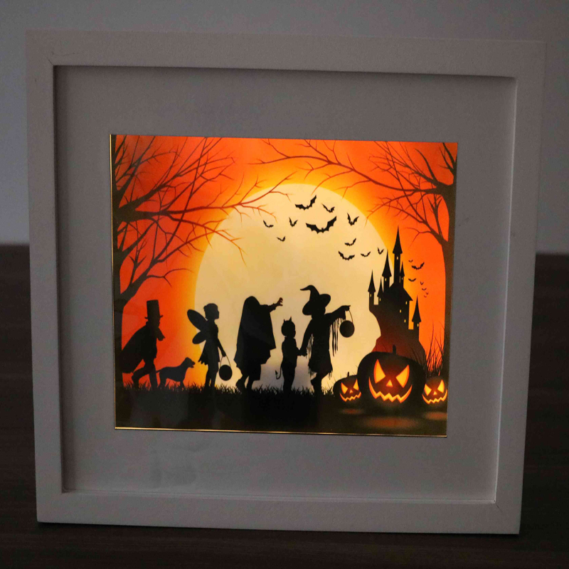 Decorative Halloween Wooden Wall Plaques led