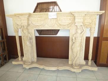 Elegant Natural Indoor Stone Fireplace Mantel