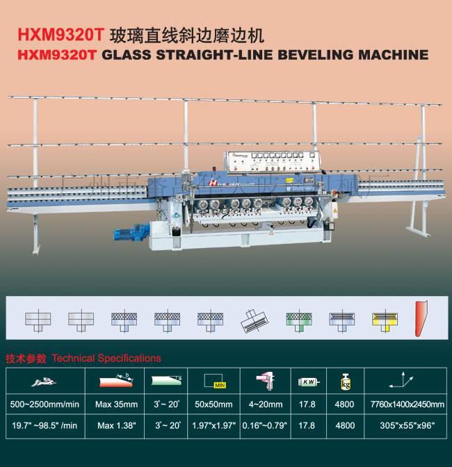 Huatian Glass Grinding Machine/HXM9320T Glass Straight-Line Beveling Machine