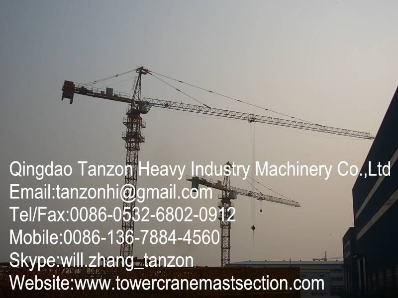 1Fixing Type Self Climbing Tower Crane 6 tons Stone Bolt For Construction
