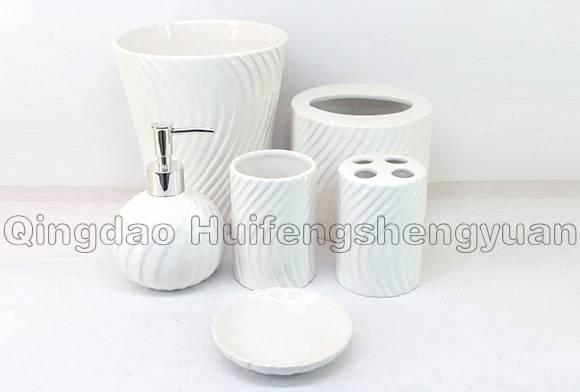 pigmented ceramic bathroom set
