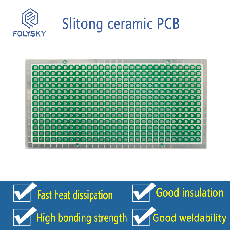 Slitong ceramic PCB circuit board / ceramic circuit board hole filling