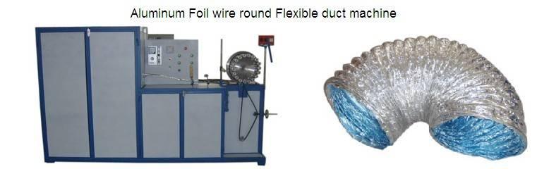 Aluminum Foil wire round Flexible duct machine