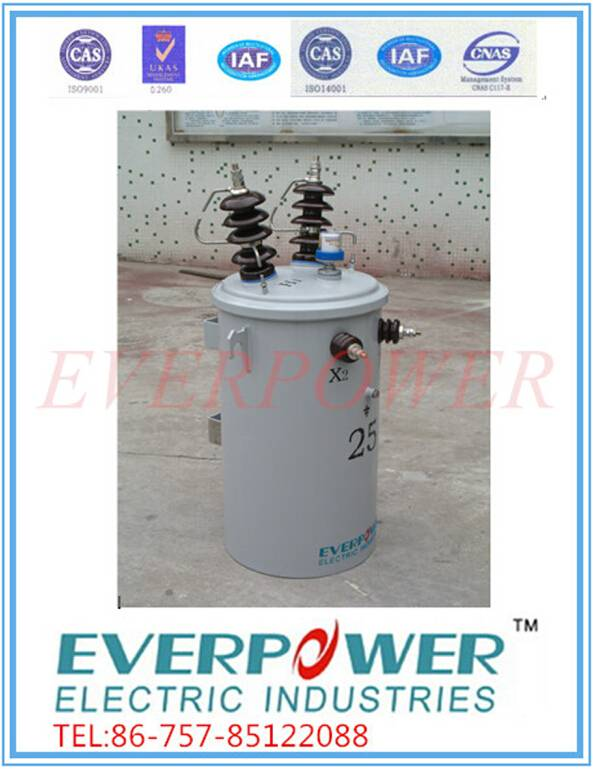 Single phase mineral-oil filled distribution transformer