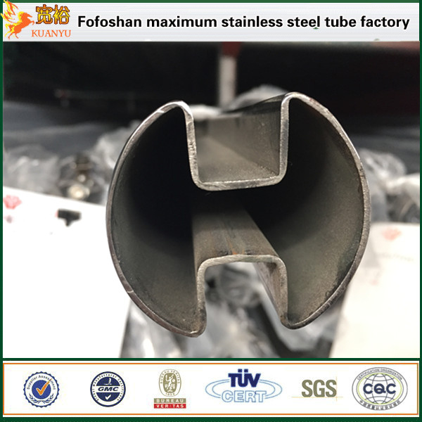China supplier square slotted stainless steel pipes 316 tube