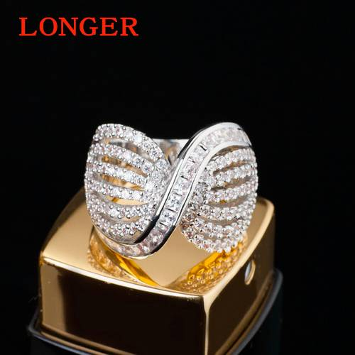 Fashion nail inlay handmade zircon ring engagement rings