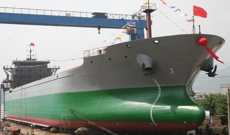 Shipyard build new bulk cargo ship