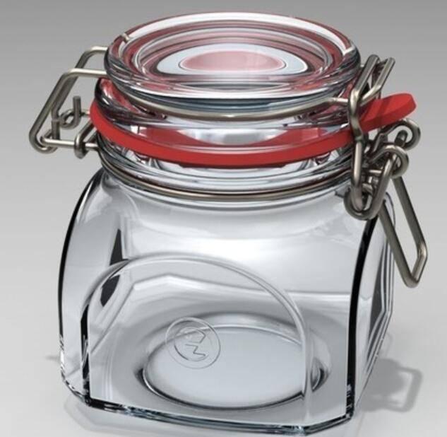 glass sealed jars, sealed cans, sealed pot, sealed bottles