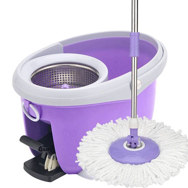 360 Spin Floor Rubber Mop With Bucket