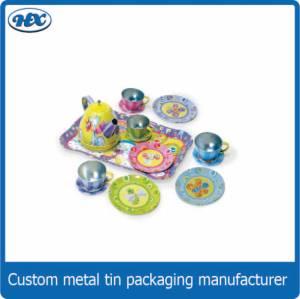 Tea tin set toy tin box
