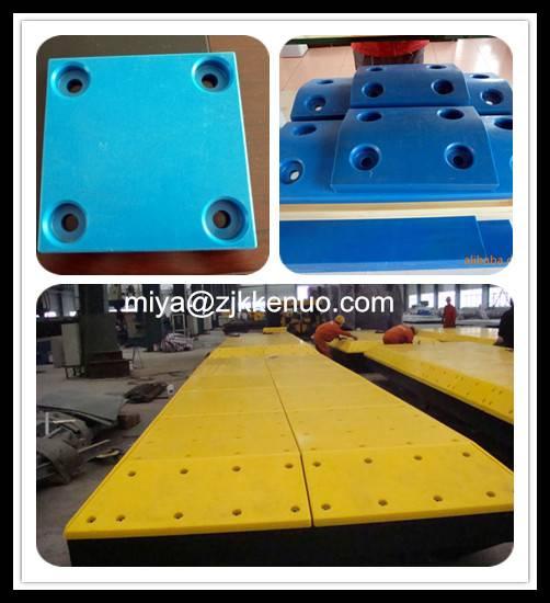 Yellow UHMW-PE Sliding Plates  30mm thickness UHMW-PE Sliding Fender