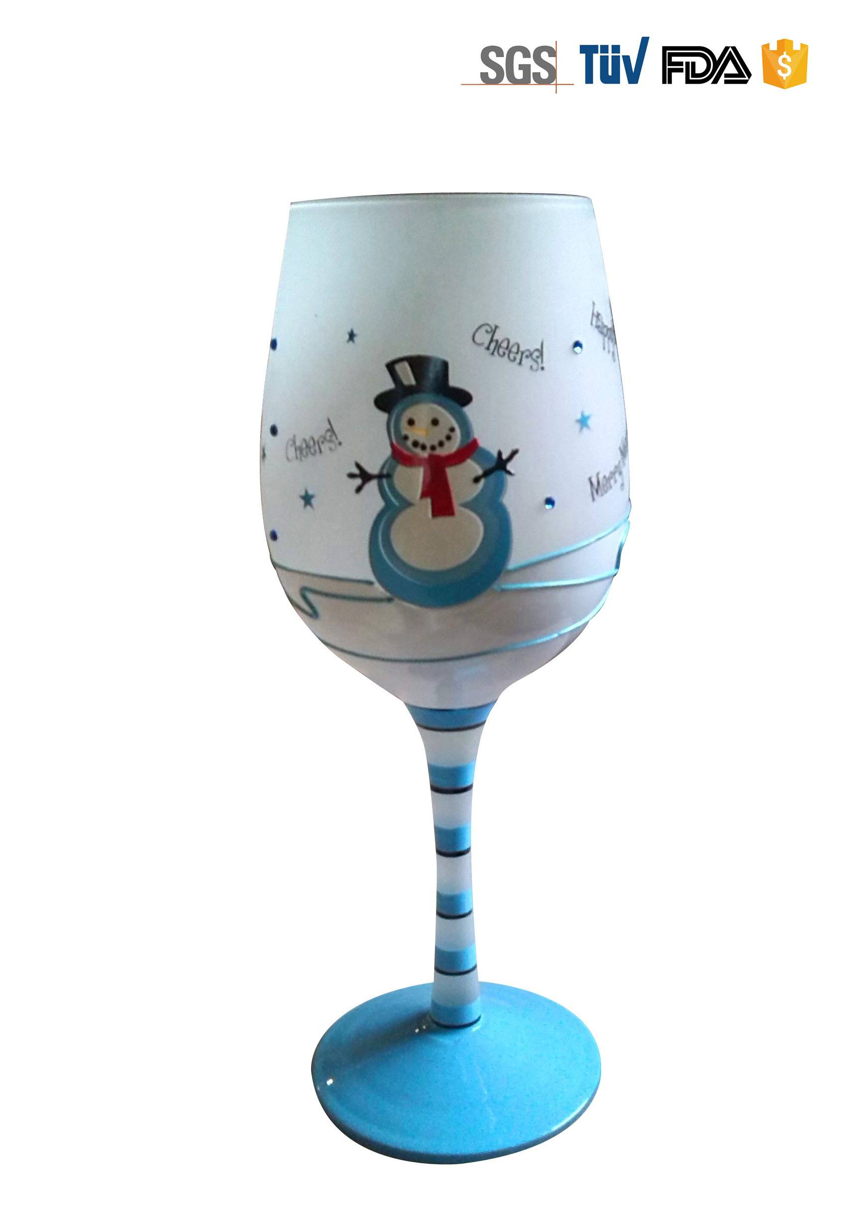 Handpaint Wine Glass