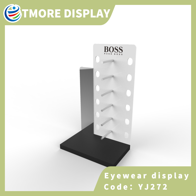 eyewear display stand with mirror