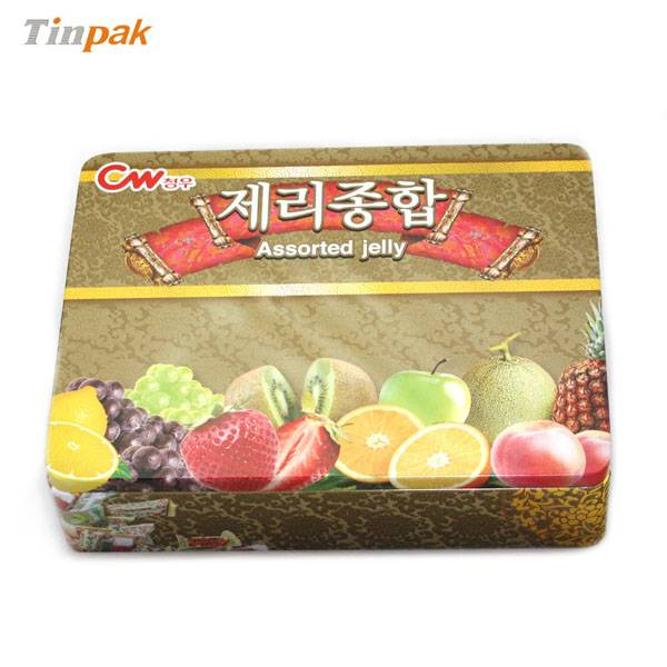 large rectangular confectionery  tin box