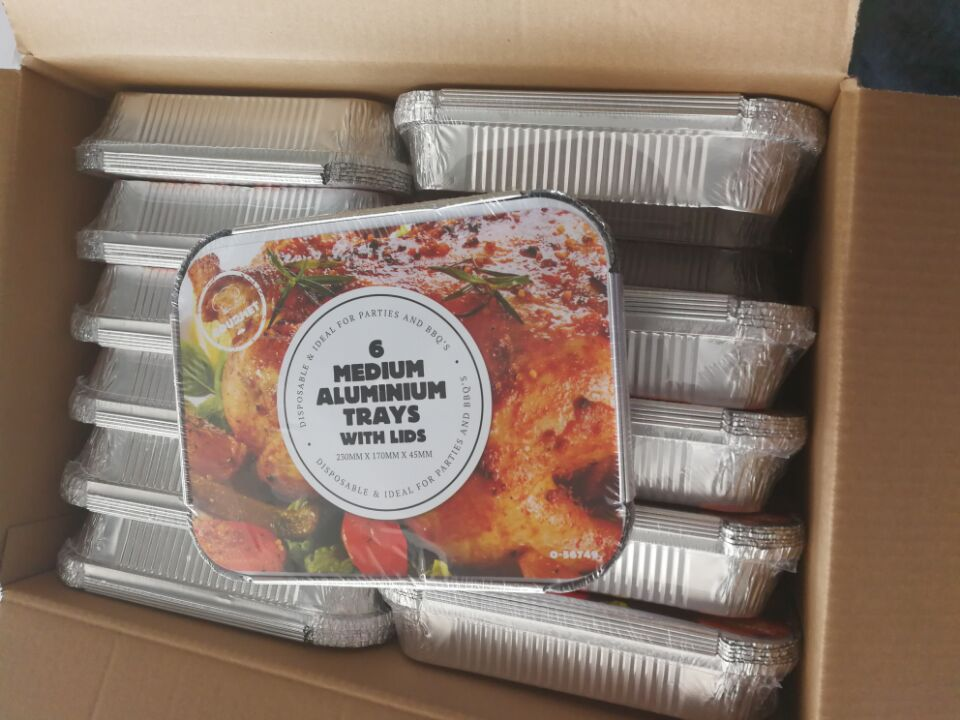 Retail Packaging Aluminum Foil Container with Hot Shrink Packaging