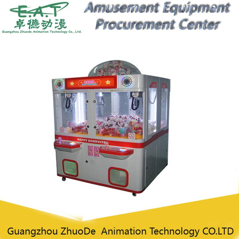 doll game machine/ coin operated 4-players prize crane machine