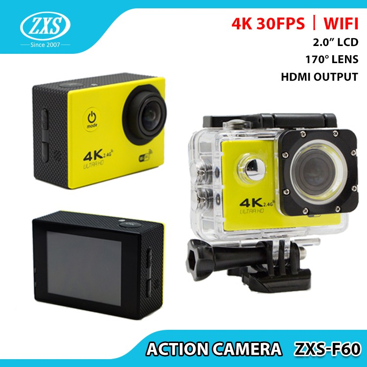 MINI 170 degree action camera 4K extreme HD action camera F60