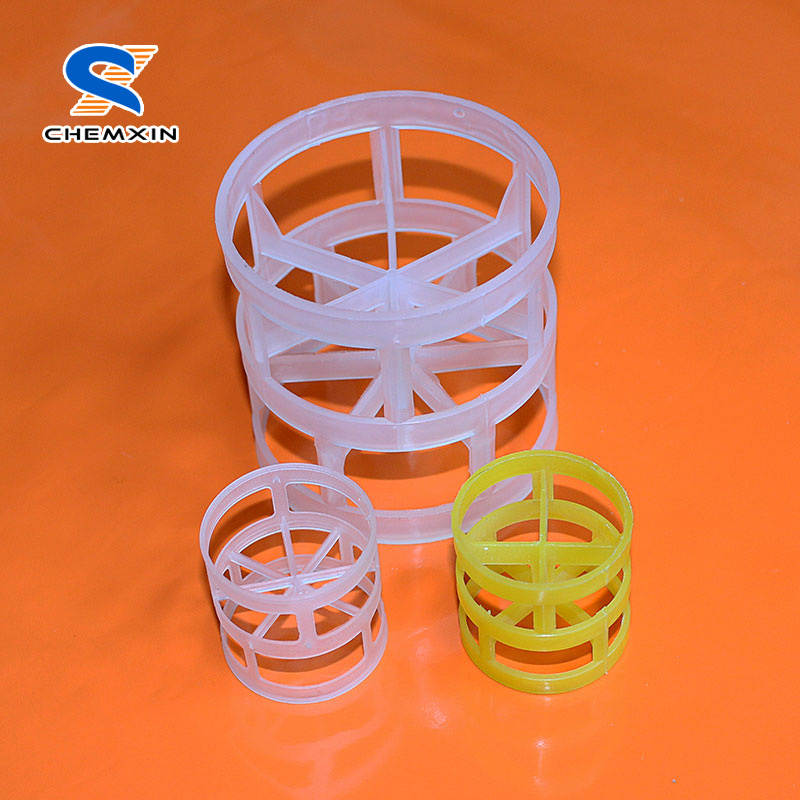 Plastic pall ring for water treatment