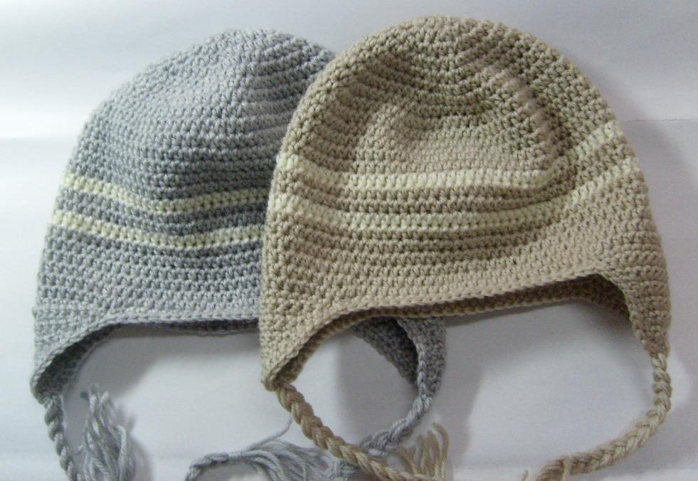 hand crochet stripe beanie