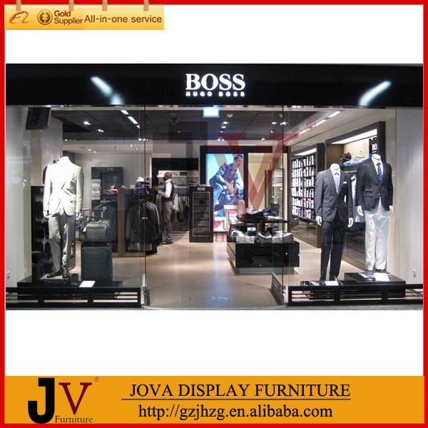 Fashion clothes shop decoration design in furniture