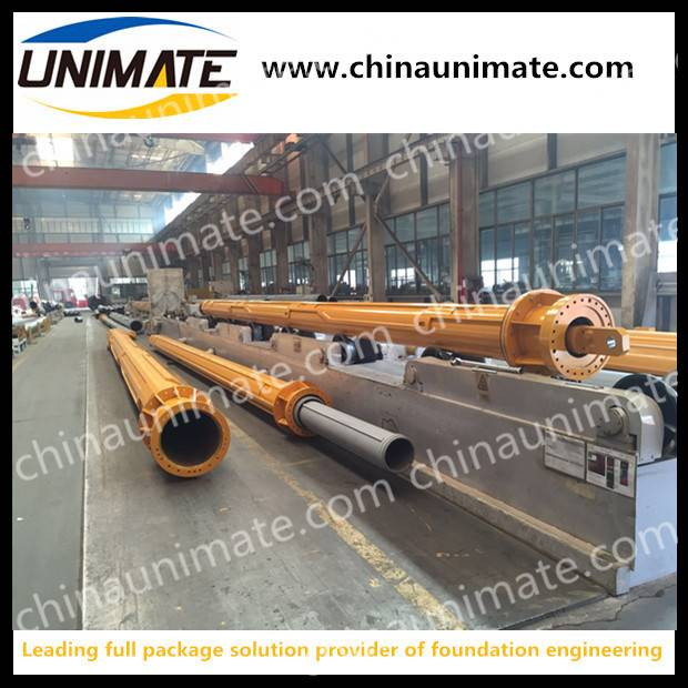 Foundation piling use rotary drill rig interlock kelly bar locking kelly bar interlocking friction k