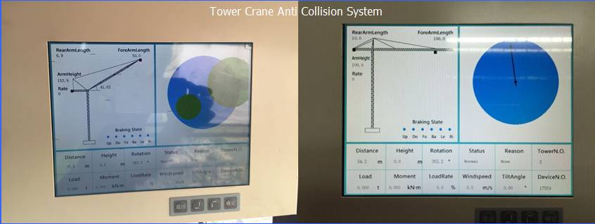 Tower Crane Collision Avoidance Safety Monitoring and Warning System
