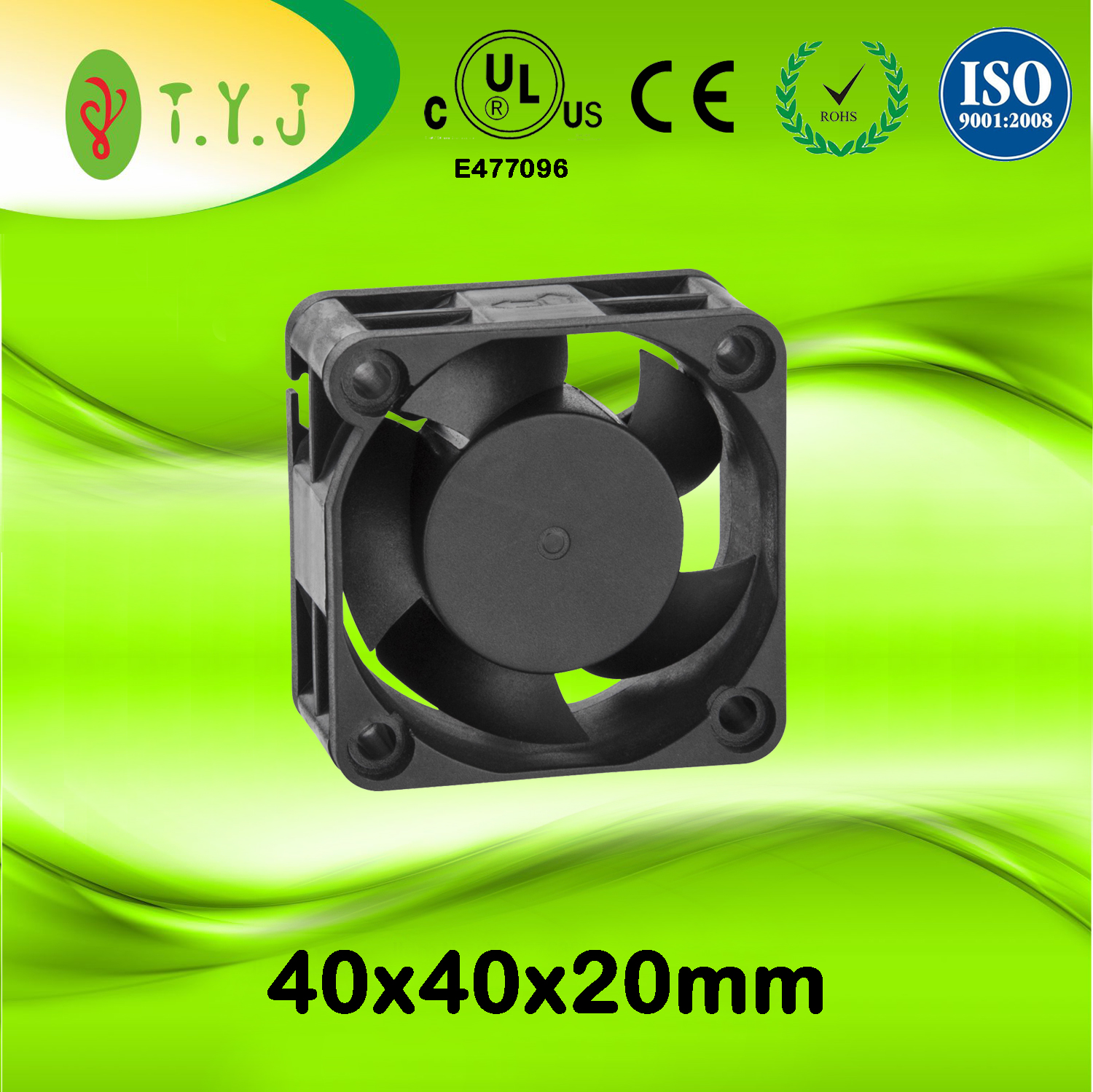 Factory Sell 12v dc 40mm brushless cooling fan 40mmx40mmx20mm dc axial micro blower fan