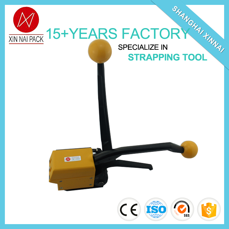 A333 manual sealless steel belt strapping tool
