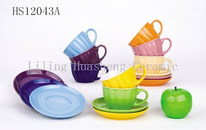 ceramic cup & saucers