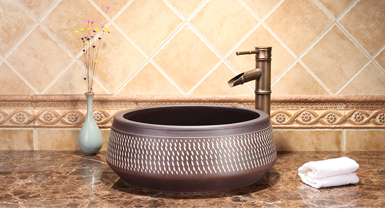 Luxury High-end Classical Handmade Kitchen Above Counter Top Washbowl Ceramic Wash Basin