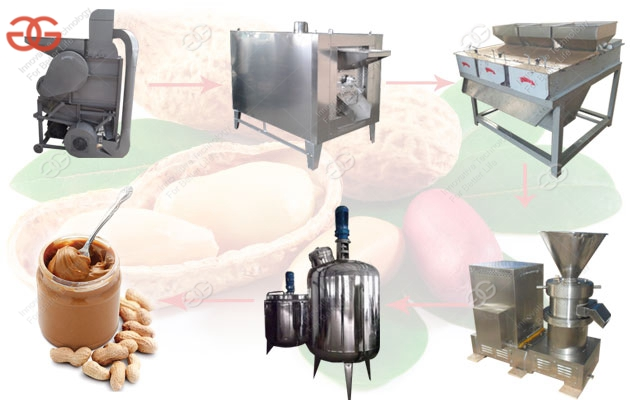 Commercial Peanut Butter Processing Line With Factory Price 500 kg/h