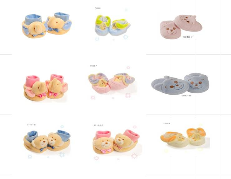 baby animal head baby booties,baby shoes