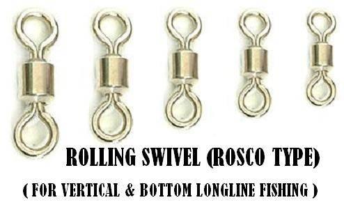 Longline swivel - Rosco type rolling swivel