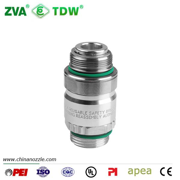 Gas station equipment ZVA reconnectable breakaway for sale