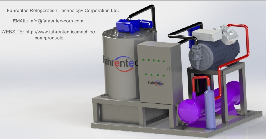 Fahrentec Industrial and Commercial 3T Seawater Flake Ice Machine Used in Fishery