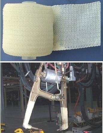 insulation tape for spot welding gun/arm
