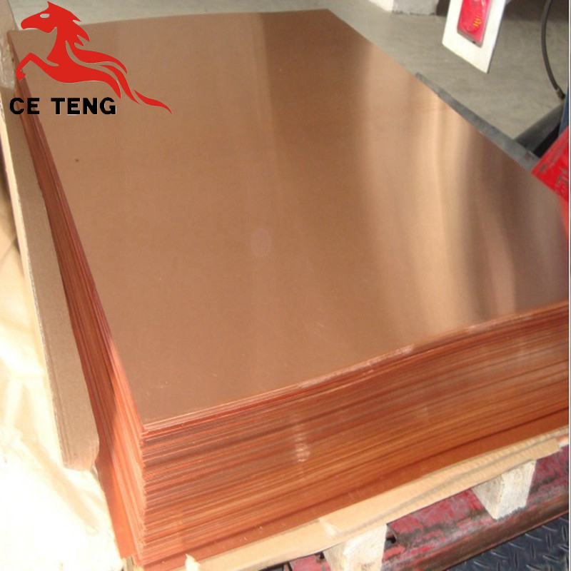 1/3 5mm 10mm Thickness Copper Plate Pure Red Copper Sheet Plate