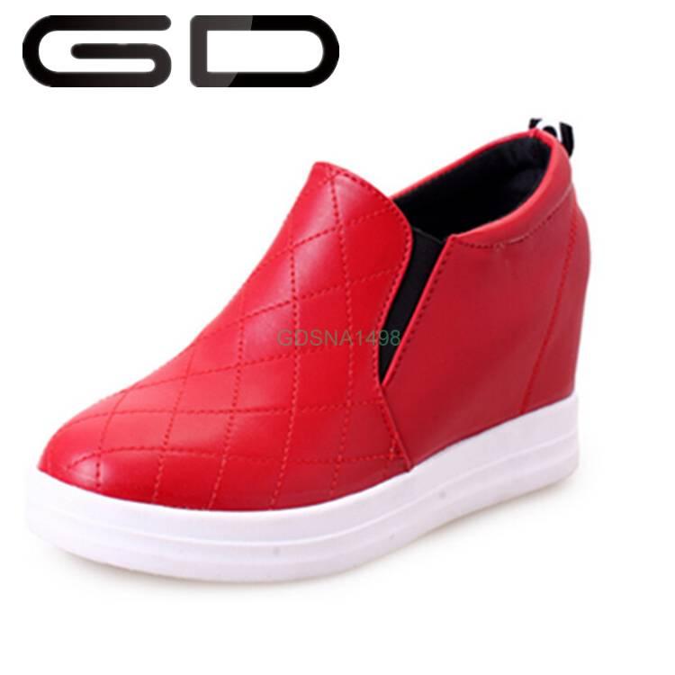 red color pop 5 cm hide heel autumn fashion dress shoe